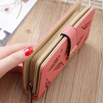 Load image into Gallery viewer, W426 Wholesale cheap high quality pu leather customize logo hand purse pink wallet