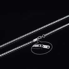 Load image into Gallery viewer, 3mm Men's Stainless Steel Thick Golden Link Chain Necklace