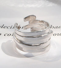 Load image into Gallery viewer, Unisex 100% S925 Sterling Silver Layers Ring