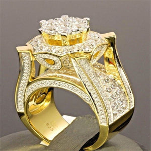 Big Round Ring Hip Hop Rock Style Bling Iced Out Cubic