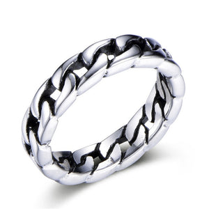 Chain Ring Stainless Steel Ring for Men Jewellery