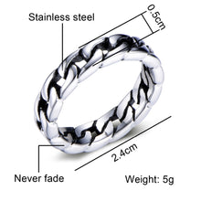 Load image into Gallery viewer, Chain Ring Stainless Steel Ring for Men Jewellery