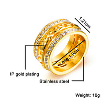 Load image into Gallery viewer, Stainless Steel Rhinestone Hollow Men's Ring