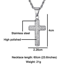 Load image into Gallery viewer, Hailey Baldwin Cross Unisex Stainless Steel Pendants & Necklace