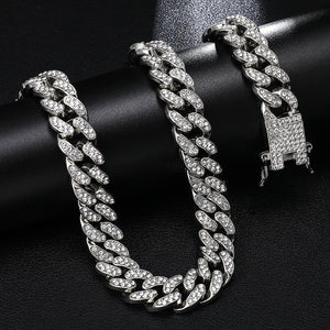 Hip Hop 13MM Rhinestones Men Chain Necklace