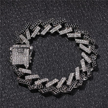 Load image into Gallery viewer, Hip Hop Bling Crystal Rhinestone Men's Necklaces Bracelet