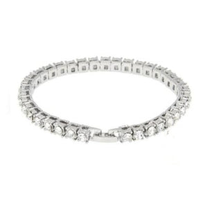 Mens Crystal Diamond Bling Bracelet Set