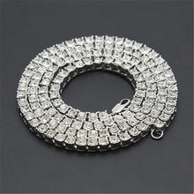 Load image into Gallery viewer, Rhinestone Choker Bling Crystal Tennis Chain Necklace Men Jewellery