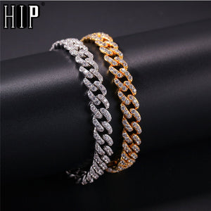 Hip Hop Mens Tennis Cuban Chain Bracelet