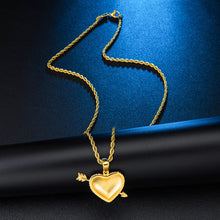 Load image into Gallery viewer, Arrow Heart Shape Rhinestone Bling Pendants & Necklaces
