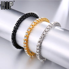 Load image into Gallery viewer, Hip Hop Bling Iced Out Diamond Crystal Bracelet Tennis Chain