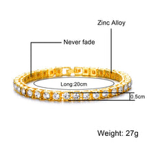Load image into Gallery viewer, Hip Hop Bling Diamond Bracelet Tennis Chain Unisex