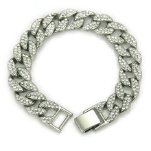 Load image into Gallery viewer, Crystal Gold Men's Chain Bracelet Jewelry
