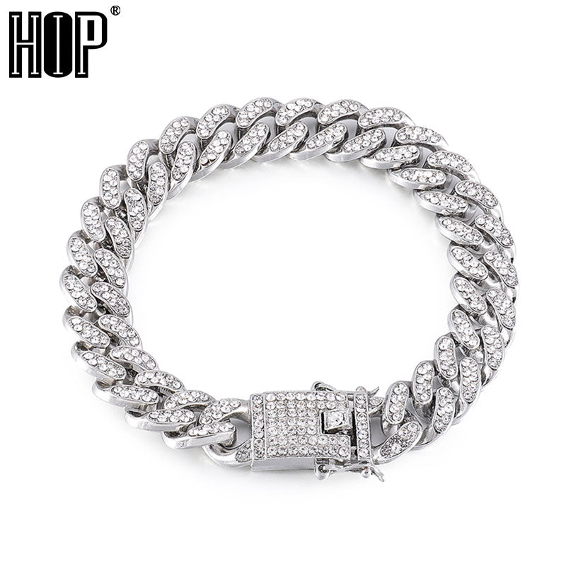 Hip Hop Men's Crystal Chain Bracelet