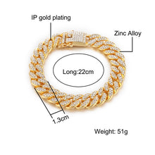 Load image into Gallery viewer, Hip Hop Men's Crystal Chain Bracelet