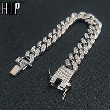 Load image into Gallery viewer, Hip Hop AAA Crystal Men's Bracelet Link Chain Bracelet