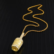 Load image into Gallery viewer, Bling Champagne Bottle Rhinestone Men's Pendants & Necklaces