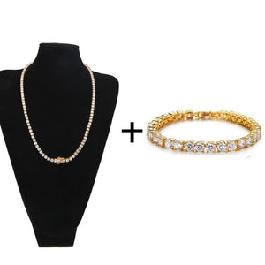 Hip Hop Tennis Chain AAA CZ Stone 4MM Bling Necklace Bracelet
