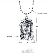 Load image into Gallery viewer, silver jesus piece pendant necklace hip hop
