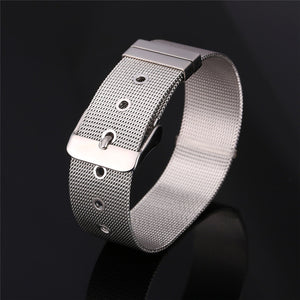 Unisex Wide Adjustable Stainless Steel  Bracelets & Bangles