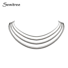 Load image into Gallery viewer, Semitree Stainless Steel Box Chain Necklace Jewelry