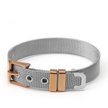 Load image into Gallery viewer, Trendy Stainless Steel Mesh Unisex Belt Bracelets