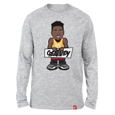 "Donovan Mitchell ""Spida"" Caricature Long Sleeve Tee"