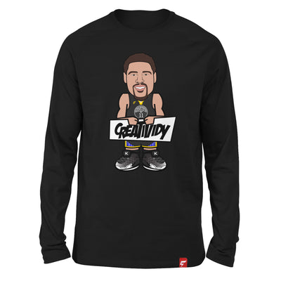 Klay Thompson Caricature Long Sleeve Tee