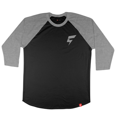 Mini Bolt Raglan Tee (Black/Heather Gray)