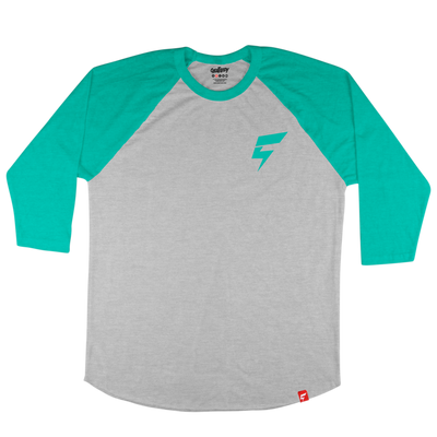 Mini Bolt Raglan Tee (Concrete/Mahi)