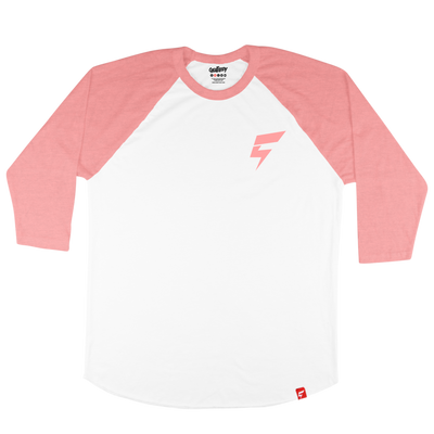 Mini Bolt Raglan Tee (White/Heather Red)