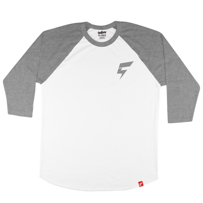 Mini Bolt Raglan Tee (White/Snow Black)