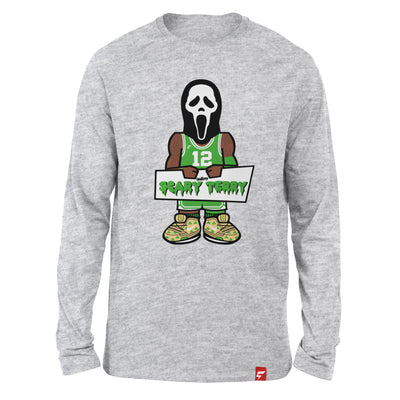 Scary Terry Rozier Caricature Long Sleeve Tee