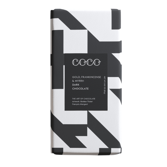 COCO Chocolatier COCO Chocolatier Gold, Frankincense & Myrrh Dark Chocolate Bar, 80g