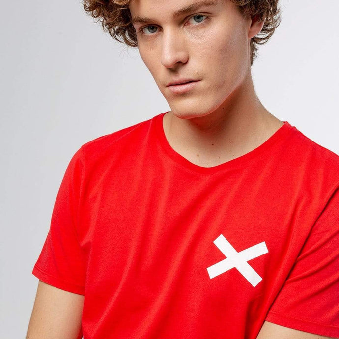 Edmmond Studios Tee Edmmond Studios Cross Cotton T-Shirt Red