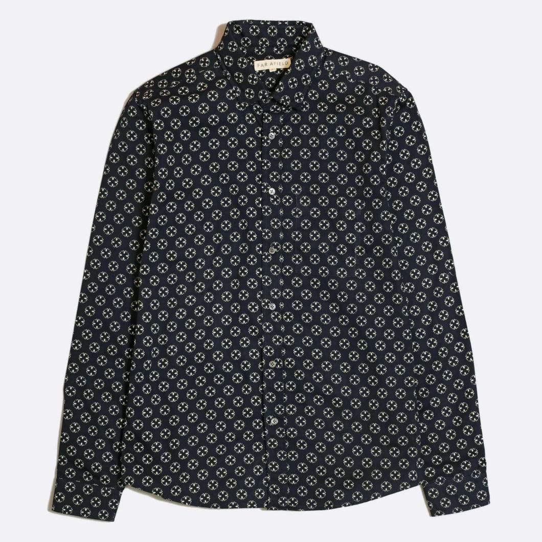 Far Afield Shirt Far Afield Argali Long Sleeve Shirt Navy
