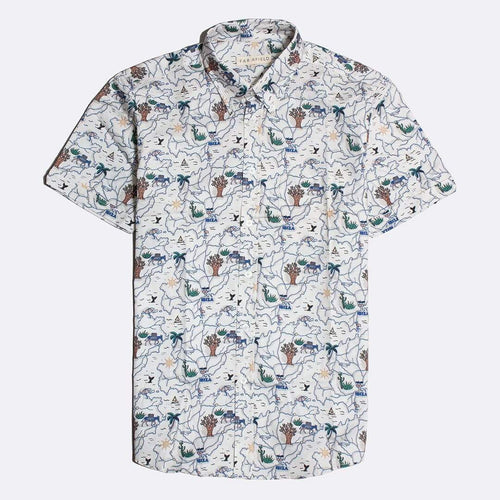 Far Afield Shirts Far Afield Oxford S/S Shirt Ibiza