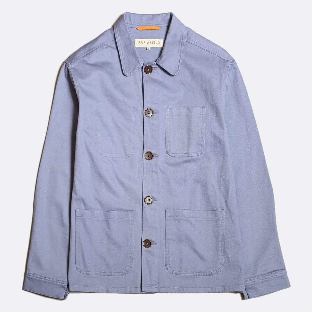 Far Afield Shirts Far Afield Station Workwear Overshirt Pale Blue