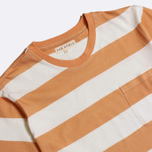 Load image into Gallery viewer, Far Afield Tee Far Afield Dos Striped T-shirt Orange