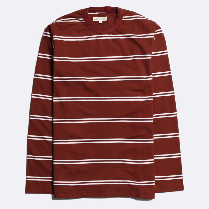 Far Afield Tee Far Afield Terry Long Sleeve Stripe T-shirt Maroon