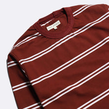 Load image into Gallery viewer, Far Afield Tee Far Afield Terry Long Sleeve Stripe T-shirt Maroon