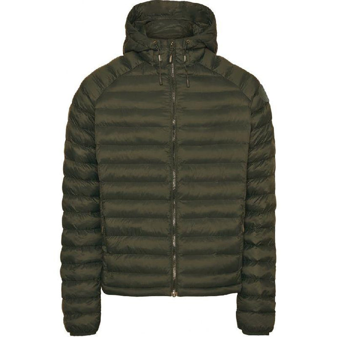 Knowledge Cotton Apparel Coat/Jacket KnowledgeCotton Apparel Eco Active Thermore Hood Jacket Green - Vegan