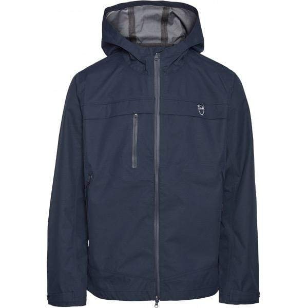 Knowledge Cotton Apparel Coat/Jacket KnowledgeCotton Apparel Save Water Jacket Blue - GRS/Vegan