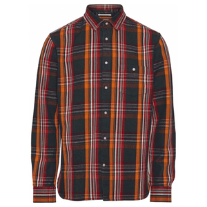 Knowledge Cotton Apparel Shirts KnowledgeCotton Apparel Long Sleeve Heavy Twill Check Shirt - GOTS/Vegan