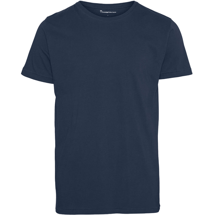Knowledge Cotton Apparel Tee KnowledgeCotton Apparel Alder Basic T-shirt Navy - GOTS/Vegan
