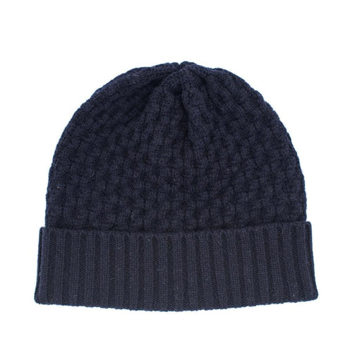 Ryan James Studio Hat One Size Ryan James Barra Lambswool Beanie Navy
