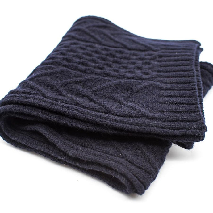 Ryan James Studio Scarf One Size Ryan James Barra Lambswool Scarf Navy
