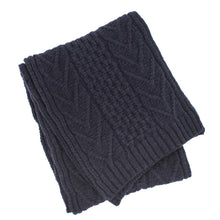Load image into Gallery viewer, Ryan James Studio Scarf One Size Ryan James Barra Lambswool Scarf Navy