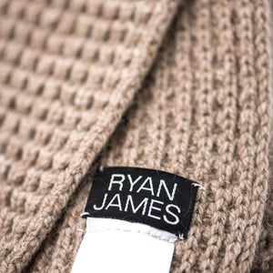 Ryan James Studio Scarf One Size Ryan James Frith Lambswool Scarf Mushroom