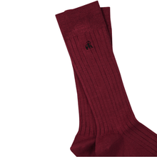 Load image into Gallery viewer, Swole Panda Socks Swole Panda Burgundy Ribbed Bamboo Socks